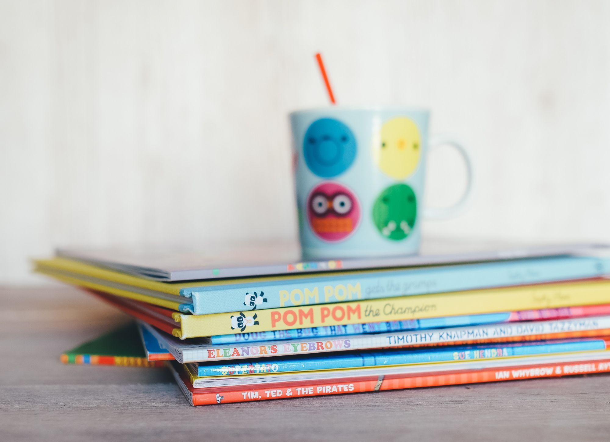 Image of books and mug